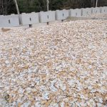 Clam shells used for sediment buffering